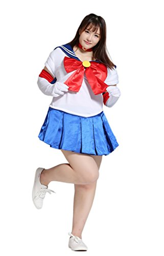 BS Japan Anime Uniforms [Plus size Sailor Moon Costumes] 1X-5X (14-32) (5X (30-32), Sailor Moon) (Plus Size Sailor Moon Costume)