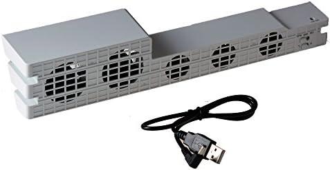 Mcbazel Dobe PS4 Pro USB External 5 ventilador de temperatura para ...
