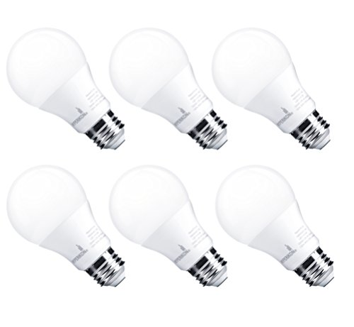 HyperSelect 9W LED Light Bulb A19 E26, Non-Dimmable, LED Bulb [60W Equivalent], 3000K (Soft White Glow), 820 Lumens, Medium Screw Base, UL-Listed (Pack of 6)