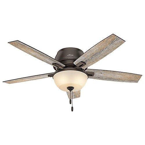 rustic low profile ceiling fan - 2