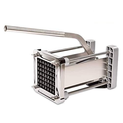French Fry Cutter, CUGLB Commercial Grade Heavy Duty Potato Chipper Cutter with 1/2 Inch Cutting Blades for Potatoes, Carrots etc.