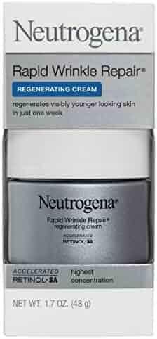 Neutrogena Rapid Wrinkle Repair Retinol Anti-Wrinkle Regenerating Face Cream, Day and Night Use, 1.7 oz