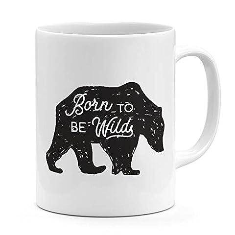 Wild Bear mug Born to be wild quote adventures lovers gift novelty mug for Display motivational words ceramic mug 11oz-15oz coffee - Golden Retriever Wrapping Paper