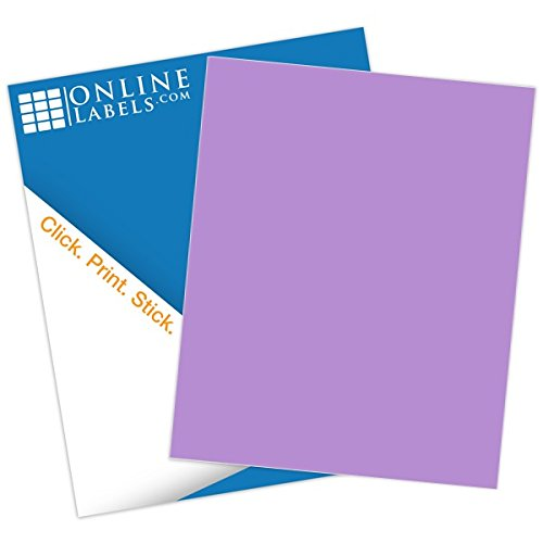 (Purple Sticker Paper - 100 Sheets - 8.5