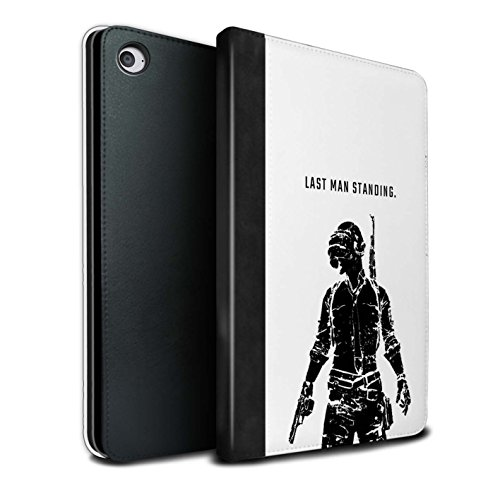 STUFF4 PU Leather Book/Cover Case for Apple iPad Mini 4 Tablets/Last Man Standing Design/PUBG Video Gaming Collection