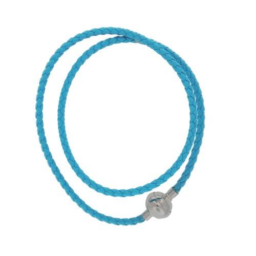 Bijoux pour tous - Mixte - Bracelet - Argent - Cuir