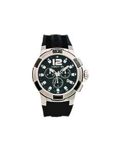 Cerruti 1881 Roma Sportiva CRA002E224G - Reloj de caballero de cuarzo, correa de caucho color negro (con cronómetro)