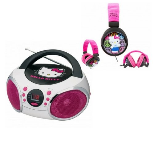 Zoe House Of Cards Costume (My First Audio Hello Kitty Portable Stereo CD Boombox With Plush Fold-able Headphone Birthday Girls Valentine Gift Set)