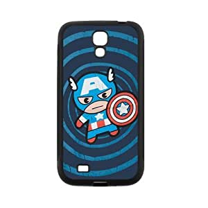 Personalized Fantastic Skin Durable Rubber Material Samsung Galaxy s4 I9500 Case - Captain America