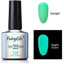FairyGlo Long Lasting Night Glow Gel Nail Polish Soak Off UV LED Dramatic Manicure Decor Kit Nail Art For Party Carnival Dressing 10ml 6712