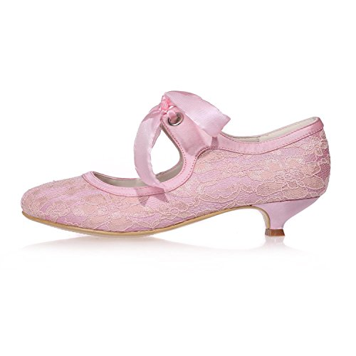 Pink YC Shoes Silk More Night L Women'S Lace Wedding Colors 9001 Available Court Party 05 Shoes U4xwZn