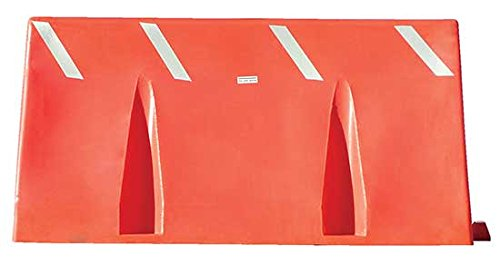 Traffic Barricades - BVTB Series; Length: 60-1/2''; Depth: 16-3/4''; Height: 24-1/2''; Fill Capacity: 60 Gallons; Color: Orange by Beacon World Class Products