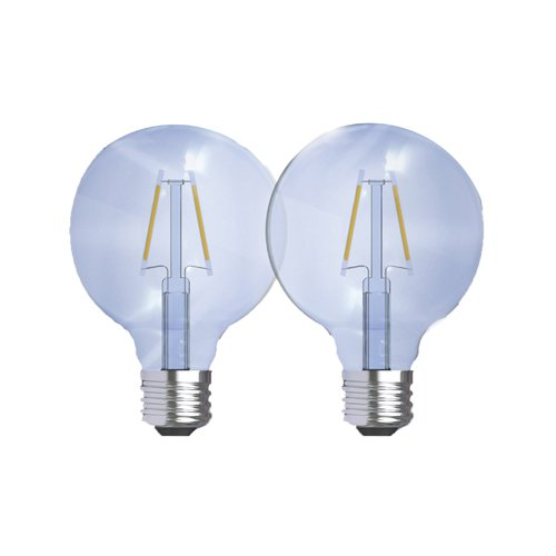 GE Lighting Reveal HD LED 3.2-watt (40-watt Replacement), 240-Lumen G25 Light Bulb with Medium Base, 2-Pack