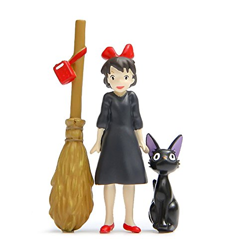 Kiki's Delivery Service Figures Resin Craft Micro Landscaping Jiji Cat Witch Broom DIY Accessories -