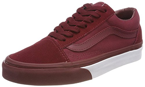 Adults' Low Old Skool Vans Top Bumber Unisex Trainers Mono Red qR6v44tnw