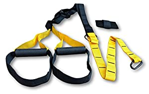 Suspension Trainer - Survival and Cross Home Workout, Strength Training, Pro Trainer with Door Anchor - Straps