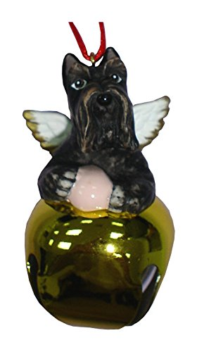 StealStreet SS-D-BL021-B Christmas Holiday Scottish Terrier Dog Ornament Bell Figurine, Gold ()