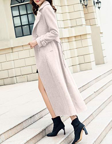 vent Manteau Mode Aux De Longue Cachemire Coupe Plaer Femmes Chaud Costume Col Abricot 8fqqApw