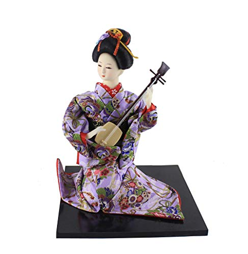 - 26cm/10.23'' Ancient Japanese Vintage Ethnic Geisha Doll Figurine Statue Beauty House Desk Decor Birthday Gifts for Friends Parents