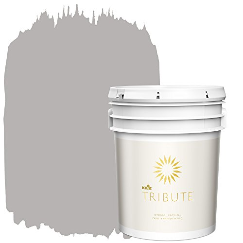 (KILZ TRIBUTE Interior Eggshell Paint and Primer in One, 5 Gallon, Postcard (TB-25))