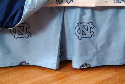College Covers International North Carolina Tar Heels Printed Dust Fashions Ruffle - Full
