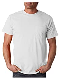 Fruit of the Loom 5 oz., 100% Heavy Cotton HD® Pocket T-Shirt (3931P) WHITE
