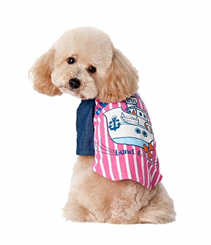 [Uniquorn 2016 New Pet Clothes Blue Ocean Sailboat Cute Handsome Dog Vest] (70s Couple Costumes)