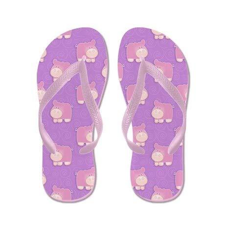 Lplpol Pink Hippo Flip Flops Adults M Pink Flip Flops Belt