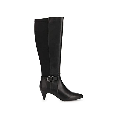 d7467065ca5 Kenneth Cole REACTION Women's Kick Dress Knee High Stretch Boot Decorative  Buckle