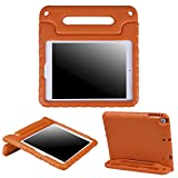 HDE Kids Case for iPad Air 1 and 2 - Shockproof Bumper Kid Friendly Cover w/Adjustable Handle Stand (Orange)