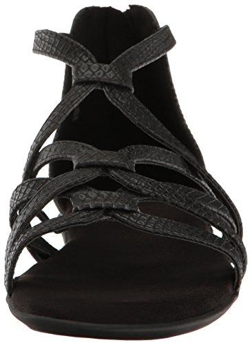 Aerosoles Kvinders Ocean Chlub Gladiator Sandal Sort Slange ueme5QZ2H
