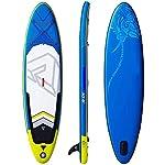 LXDDP-Gonfiabile-Stand-up-Paddle-Board-Tavola-da-Surf-SUP-con-Accessori-SUP-gratuiti-Piattaforma-Antiscivolo-Pagaie-Regolabili-Aletta-Inferiore-Pompa-e-Zaino