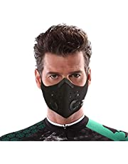 Dust Mask by UTKU | Washable and Reusable Neoprene Mask with 6 Activated Carbon N99 Filters for Outdoor Activities | Face Mask for Woodworking Mowing Running Cycling Winter Sports
