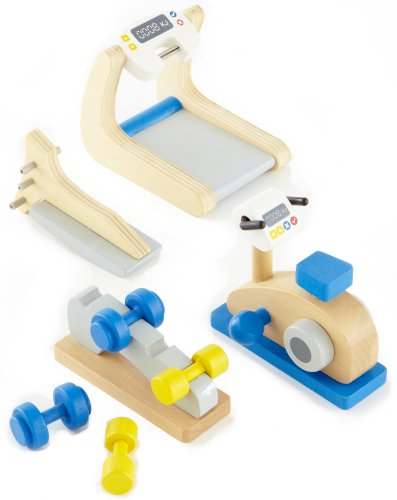 Hape Wooden Doll House Furniture Home Gym Playset and Access