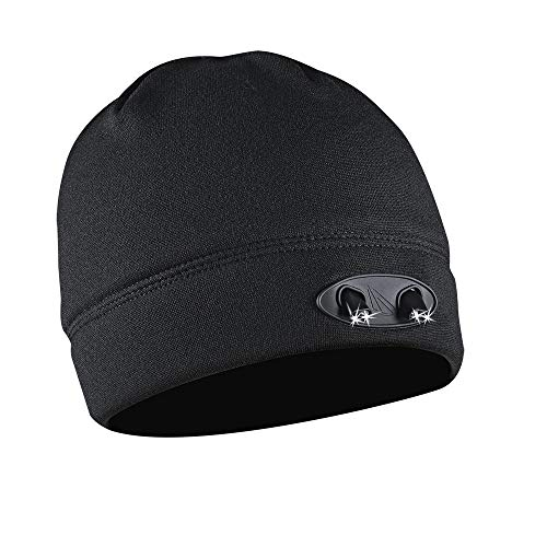 POWERCAP LED Beanie Cap 35/55 Ultra-Bright Hands Free LED Lighted Battery Powered Headlamp Hat - Black Fleece (CUBWB-4553)