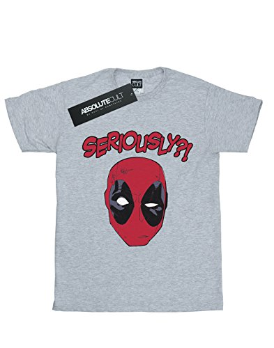 Marvel Deadpool Gris shirt Sport Seriously T Homme 0Cnpwq0A