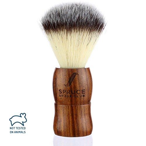 Spruce Shave Club Genuine Wood Shaving Brush – Imitation Badger Hair