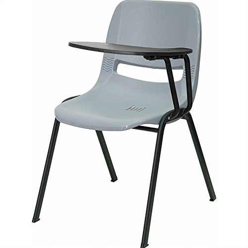 Bowery Hill Ergonomic Shell Guest Chair in Gray by Bowery Hill