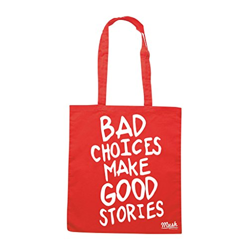 Borsa FASHION BAD CHOICES MAKE GOOD STORIES - Rossa - MUSH by Mush Dress Your Style