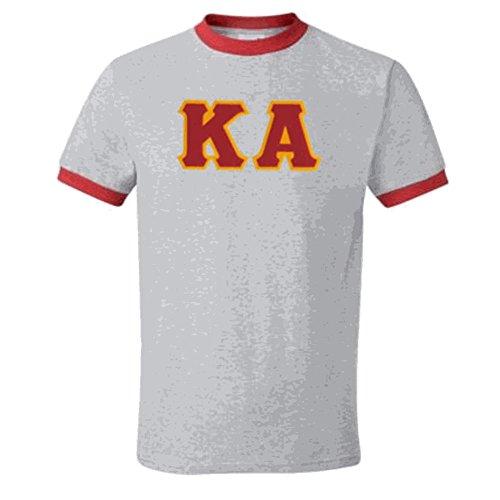 - Express Design Group Kappa Alpha Lettered Ringer Shirt XXX-Large Grey w/Red Trim