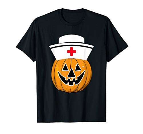 Pumpkin Nurse Halloween Shirt funny Nurse Medical