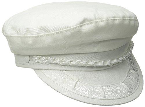 Aegean Unisex Cotton Greek Fisherman's Cap, White, 7 3/4]()