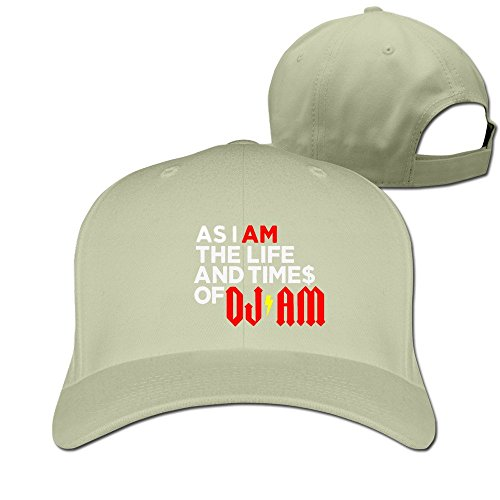 Unisex As I AM: The Life And Times Of DJ AM Adjustable Snapback Baseball Cap 100%cotton Natural One - Tom Canada Ford