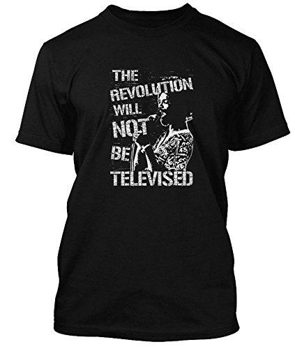 Gil Scott-Heron Revolution Will Not Be Televised, Men's T-Shirt, Medium, Black