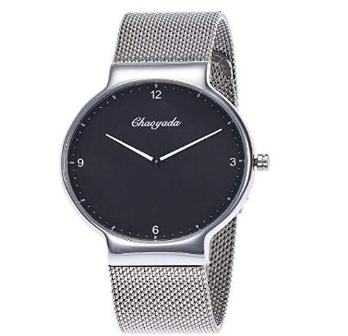 Chaoyada Fashion Men Watches Simple Stainless Steel Mesh Strap Lovers Quartz Wrist Watch Ladies - Watches Lover39;s ()