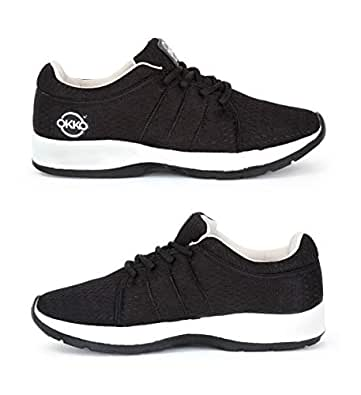 OKKO DEP 04-07 Sports Running Shoes - Black Grey, Size 43