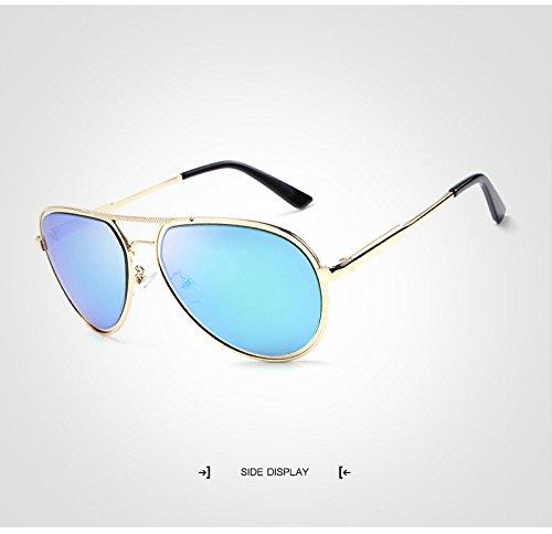 Retro Polarized Soleil Hommes Golden Pilot Sunglass de JCH de oculos Marque Designer Lunettes Soleil Mirrored Sol Lunettes de Lunettes SPdFqF