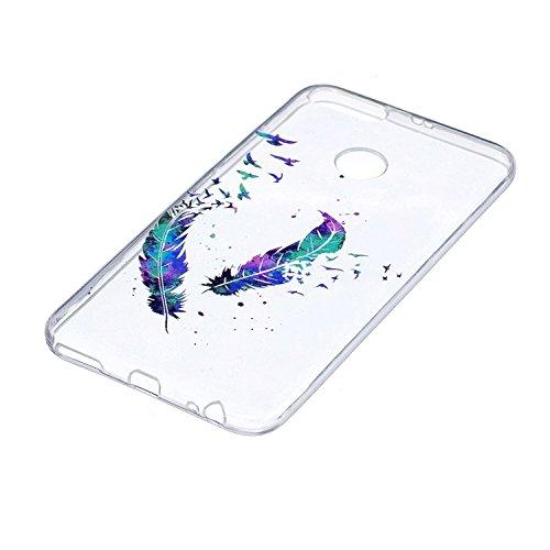 Funda para Xiaomi Mi 5X / Xiaomi Mi A1 , IJIA Transparente Colorido Plumas Bird TPU Silicona Suave Cover Tapa Caso Parachoques Carcasa Cubierta para Xiaomi Mi 5X / Xiaomi Mi A1 (5.5) FD1