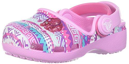 Front Shoe Croc (Crocs Girls' Karin Novelty K Clog, Carnation, 1 M US Little Kid)
