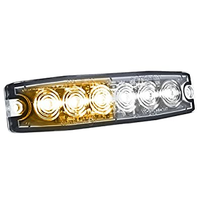 HELLA H22895051 MST6 Mini LED Lighthead, 12/24 V, 23 Flashing Patterns, Amber/White: Automotive